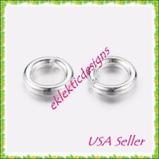 5mm 18gauge 100pcs BRASS Silver Plated Open Jump Rings Findings Earring Necklace