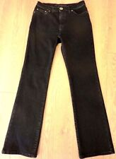 M&S per una ROMA Ladies Stretchy Straight Fit Black Jeans Size UK 8R