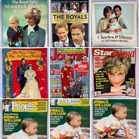 (Lot Of 7) Princess Diana And The Royal Family Books Magazines And More William