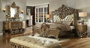 NEW Luxarious Royal European Button Tuft Bedroom Set King 5 Pcs.
