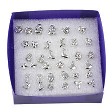 Vogue lots 18 Pairs Fashion Mix Styles Silver Plated Sterling Stud Earrings