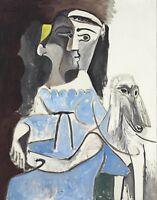 """PABLO PICASSO Poster or Canvas Print """"Femme Au Chien"""""""