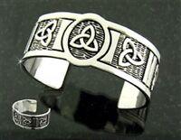 Pewter Trinity Knot Cuff Bracelet