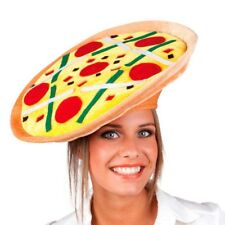 PIZZA HAT Italian Costume Party Cap Funny Fast Food Halloween Italy Oktoberfest