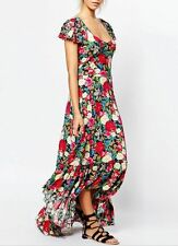 Rayon Long Floral Regular Size Dresses for Women