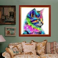 Cat 3D Diamond Painting DIY Home Decor Needlework Craft Animal 30*30cm CG