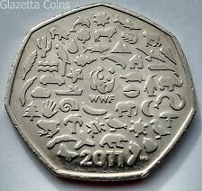 50p Fifty Pence Coins - World Wildlife Fund WWF (2011)