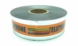 """NEW 3M 410 DETECTABLE BURIED TELEPHONE CABLE BELOW TAPE 3"""" X 1000FT SCOTCH"""