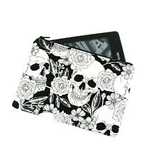 Flower Rose Skull Kindle Padded E-Reader Case, Paperwhite Sleeve, Amazon Oasis