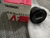Tamron 19-35mm F/3.5-4.5. Sehr guter Zustand.