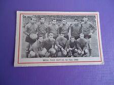 Voetbal kaart team België Rode Duivels 12 november 1961 prent ultra rare