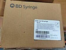 Bd Syringe Tb 1ml Slip Tip 309659 Disposable Box Of 200 1cc Exp 2025 12 31