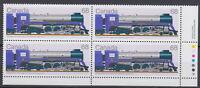 CANADA #1121 68¢ Locomotives 1925-1945 LR Inscription Block MNH