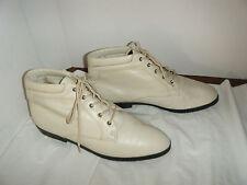 ELLEMENNO Vintage Granny Grunge Beige Boots Size 10 M Women's