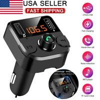 Wireless Bluetooth FM Radio Adapter Music Player FM Transmitter Kit Hands Free