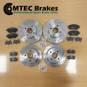 Ford Fiesta ST180 ST200 2012- Drilled Grooved Front Rear Brake Discs MTEC Pads