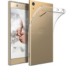 Clear Slim Gel Case and Glass Screen Protector for Sony Xperia XA1 Ultra