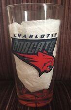 CHARLOTTE BOBCATS NBA RARE 16 OZ DRINKING GLASS! NICE!