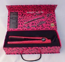 "NIB Proliss Infusion Hot Pink Leopard 1.25"" Ceramic Hair Flat Iron Straightener"