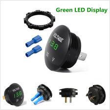 DC12V Green LED Car Boat Mini Digital Voltage Meter Display Voltmeter Waterproof