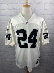 Oakland Raiders Charles Woodson Reebok Authentic Pro Cut NFL Football Jersey LG
