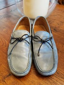 Tods Scooby Doo Antque Tie Driving Shoes Size US 10.5 Grayish Blue #2104
