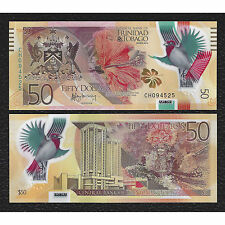 Trinidad & Tobago - 50 Dollars - UNC polymer currency note - 2015 regular issue