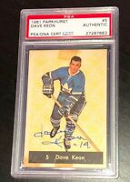 DAVE KEON SIGNED 1961 PARKHURST TORONTO MAPLE LEAFS ROOKIE CARD PSA/DNA 27267683