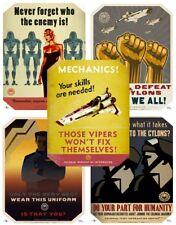 Battlestar Galactica Propaganda Poster Set 5 Replicas neu