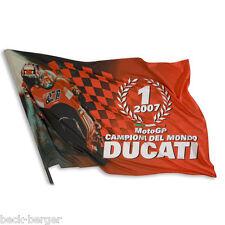 DUCATI Corse Fahne Flagge Flag CASEY STONER Moto GP World Champion 2007 NEU !!!