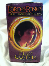 New Light Up Lord of the Rings Frodo The Hobbit Glass Goblets Collection 2001