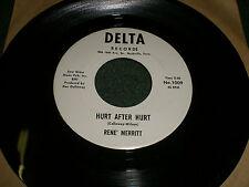 Hurt After Hurt Rene Merritt~RARE WHITE LABEL PROMO Honky-Tonk Country~Delta