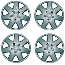 "Tempest 15"" Car Wheel Trims Hub Caps Plastic Covers Silver Universal (4Pcs)"