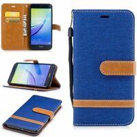 Huawei P10 Lite Hülle Case Handy Cover Schutz Tasche Schutzhülle Bumper Blau