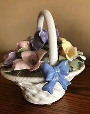 The San Francisco Music Box Co. ~ Anna Rosa Collection Porcelain Bouquet Basket