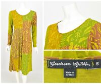 Womens Gudrun Sjoden Viscose Dress Multicolor Long Sleeve Floral Size S