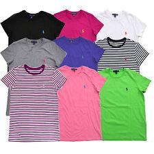 Ralph Lauren Womens T Shirt Jersey Tee Crew Neck Short Sleeve Xs S M L Xl  Nwt