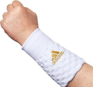 adidas Wristbands PRO Sports Tennis Badminton Sweatband White 2 PCS FK1549