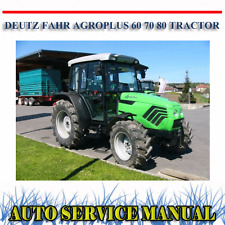 Deutz-fahr Agroplus 60 70 80 Tractor Workshop Service Repair Manual