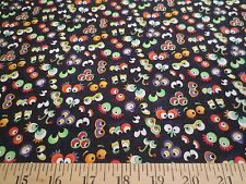 Wild Things From Outer Space Black Northcott Cotton Fabric Pattern 4838-99