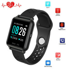 Smart Watch Body Temperature Heart Rate Sport Bracelet Wristwatch Phone Mate