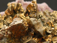 3509 Chalkopyrite Quarz Große Burg Siegerland classic Germany specimen mineraux