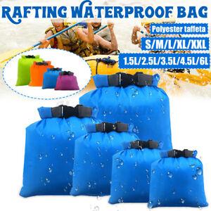 5 Pack Camping Dry Bags Sacks Outdoor Waterproof Weather Resistant Kayak Hiking
