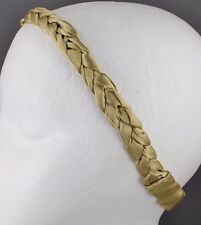 dark Gold braided headband satin fabric stretch elastic braid 3/4 inch wide