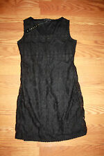 NWT Womens TIANA B. Black Lace Sleeveless Dress Size M Medium $98