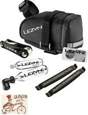 LEZYNE M-CADDY BLACK SEAT BAG W/ RAP6 TOOL, SMARTKIT, TIRE LEVERS,16G C02