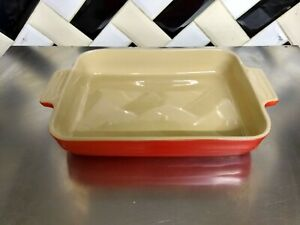LE CREUSET Stoneware Rectangular Dish RED Baking Oven DISH LARGE