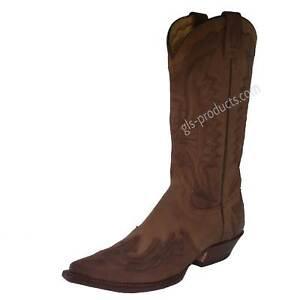 Mezcalero/Rancho Illinois Cowboy Boots Flame Applications handmade cowhide brown