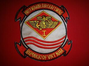 USMC 1st MARINE AIRCRAFT WING (MAW) Republic Of Vietnam War Patch