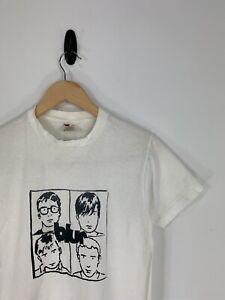 Vintage Rock Band BLUR Concert 80's 90's RARE Tour T-Shirt Small Oasis Brit Pop